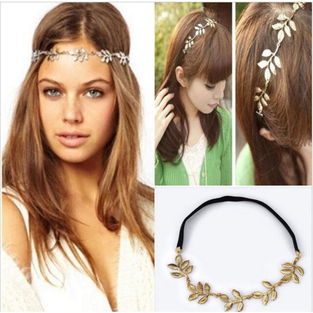 Elegant Lady Girl Gentler Retro Vintage Hollow Leaf Elastic Hair Band Headband