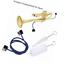 Dilwe Trompete Reinigungsset 3 Stück Pflege Bürsten Musikinstrument Wartungszub