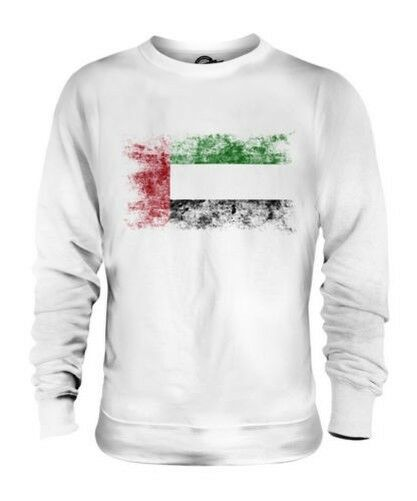 UNITED ARAB EMIRATES DISTRESSED FLAG UNISEX SWEATER TOP AL-IMARAT AL-ARABIYYAH