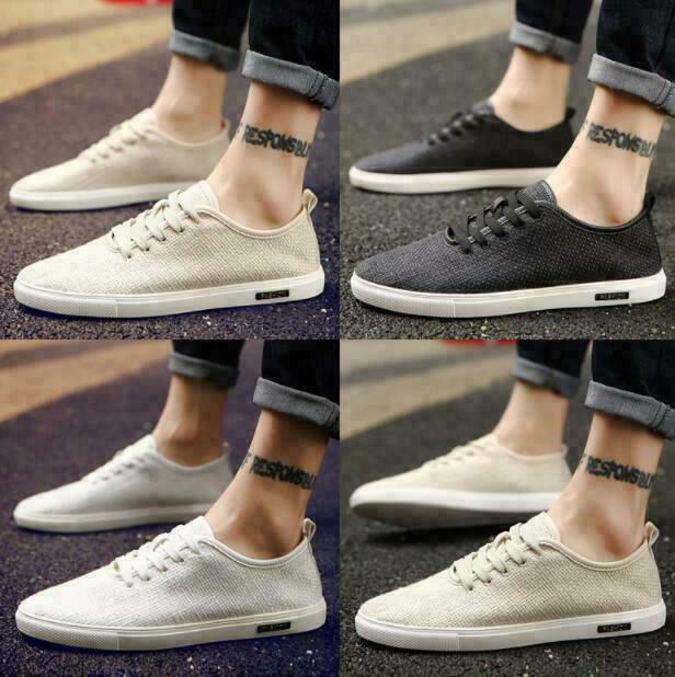 Summer Mens Breathable Slip On Espadrilles Canvas Loafer Casual Shoes Flats MOON