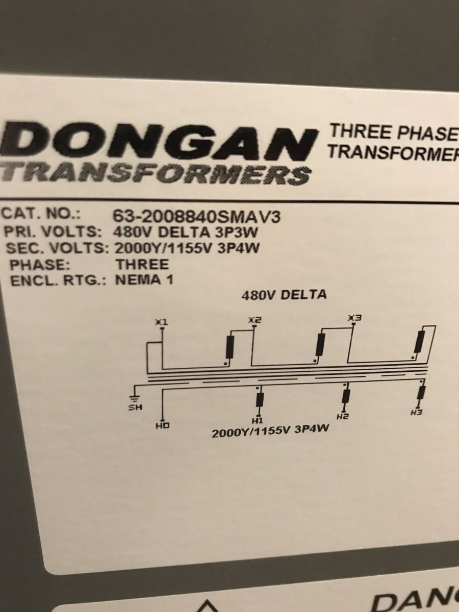 Dongan Transformer Wiring Diagram Trusted Schematics 3 Phase 200kva Cat 63 2008840sma V3 480 Pri Honeywell