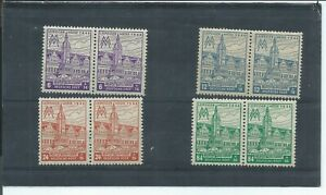 Germany-stamps-Allied-Occupation-1946-West-Saxony-Leipzig-Fair-pairs-MNH-H734