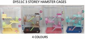 DY511C-LITTLE-ZOO-HOLLY-4-STOREY-DWARF-HAMSTER-CAGE-BLUE-PINK-BROWN-YELLOW