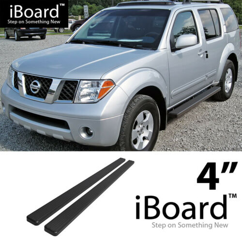 Running Board Side Step Nerf Bars 4in Black Fit Nissan Pathfinder 05-12