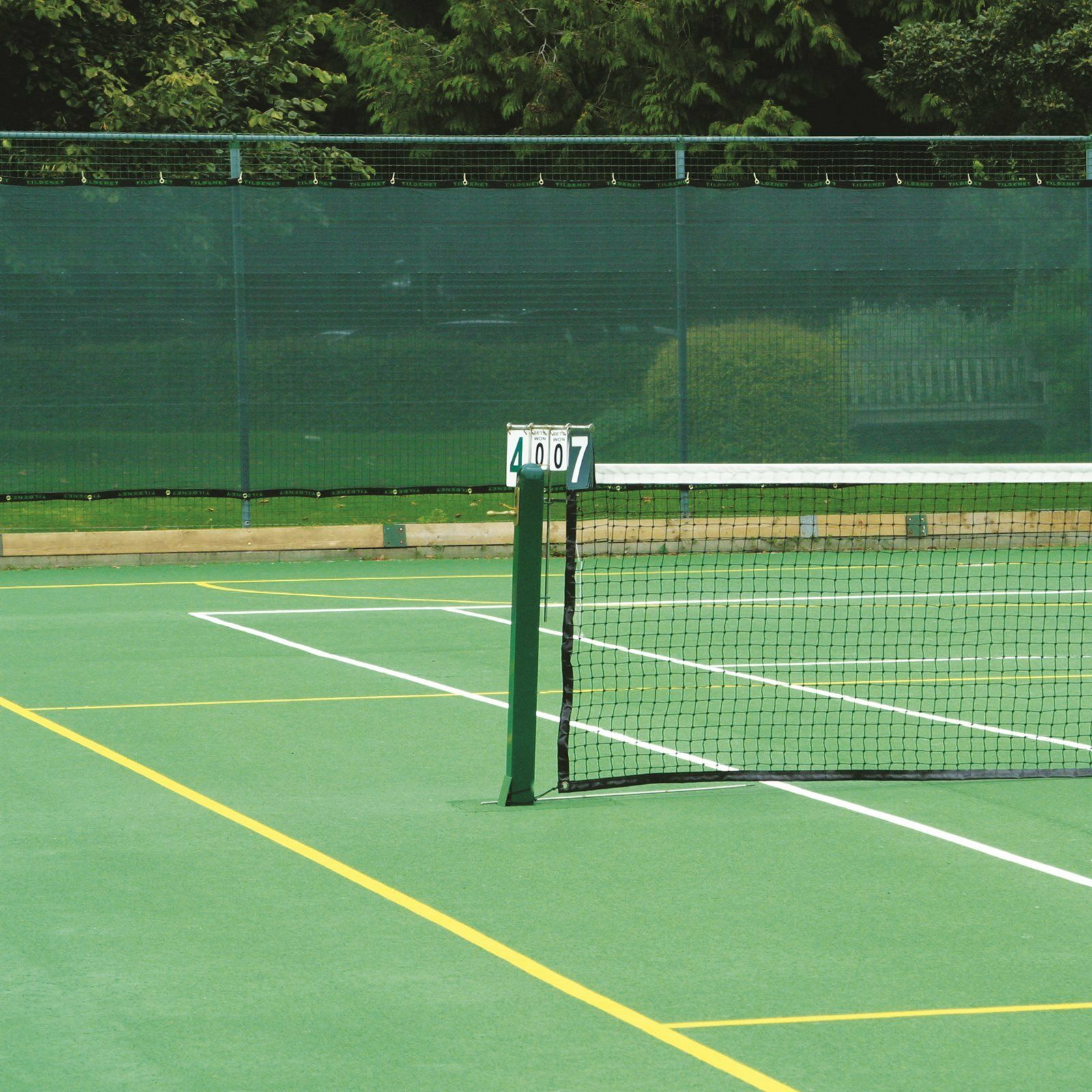 Premium Tennis Court Privacy Windbreak Netting Surround Screen 3m x 12m Green
