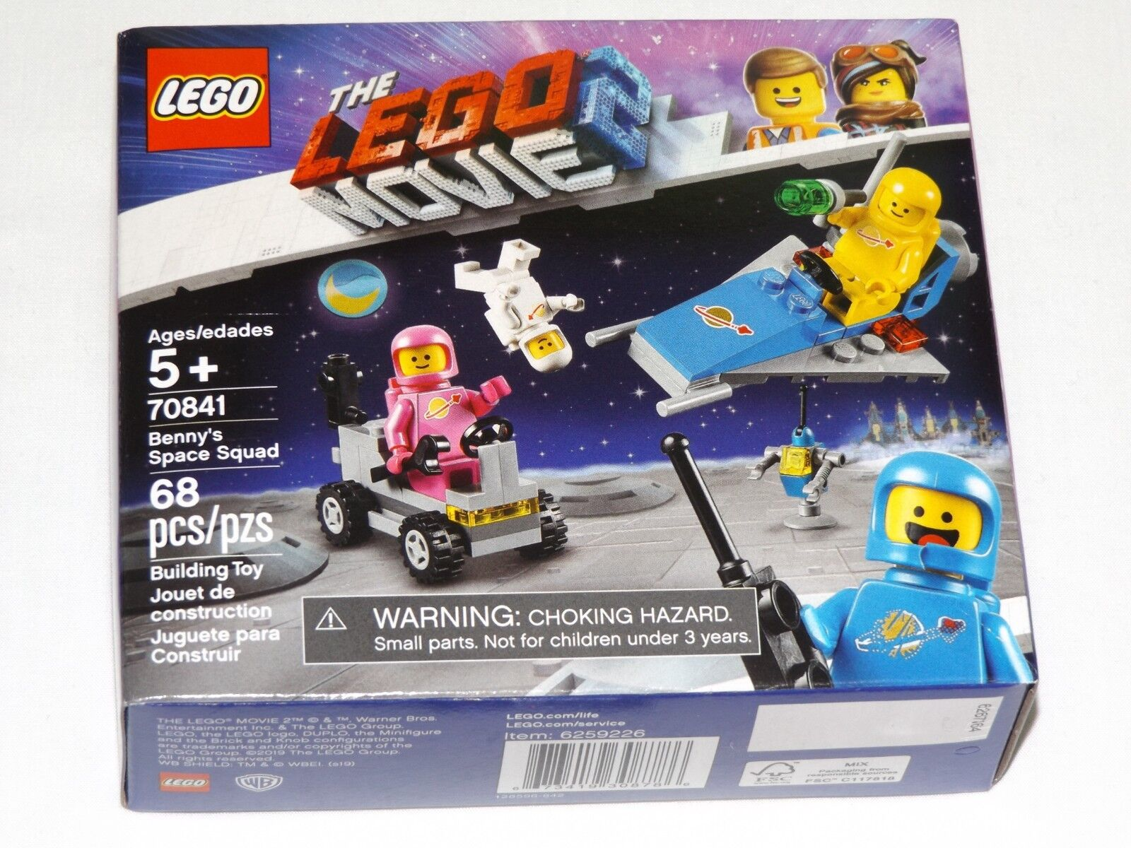 New Lego The Lego Movie 2 Benny's Space Squad 70841 retired hard to find