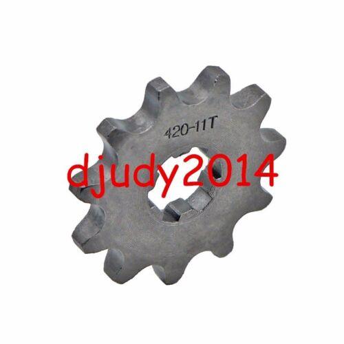 420-17MM 10 11 12 13 14 15 16 17 18 19T Tooth Front Sprocket Dirt Pit Bike ATV