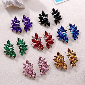2021 Women Wing Angel Crystal Rhinestone Earrings Ear Stud Dangle Jewelry Gifts