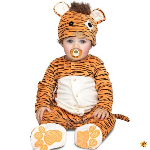 56-86 Tier Geschenk Schlafanzug Karneva Baby Kostüm Mini Tiger mit Schnuller Gr