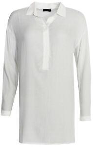 Bluse Rayon Xs Long bluse Creme Shirt Seiden Braez 54882 Gr A1qwdnC1