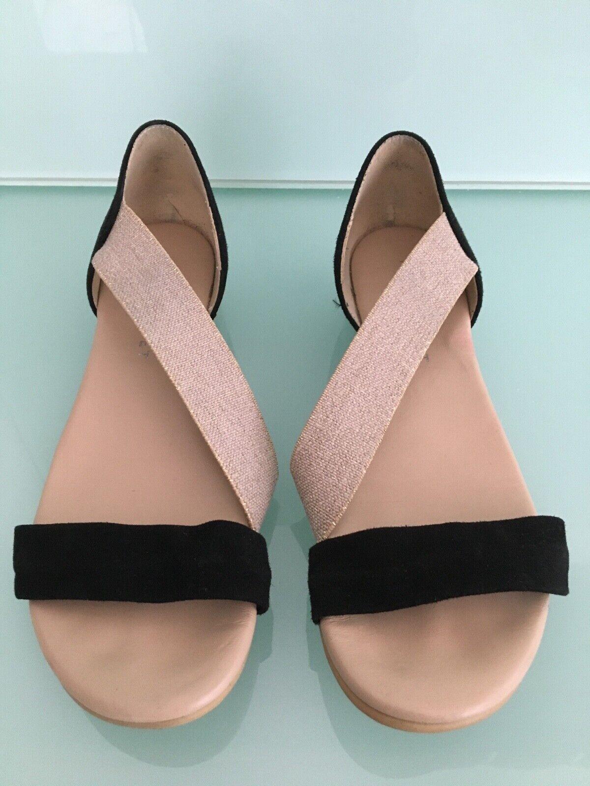 ** Comme neuf Velvet Noir/Beige Sandale. taille 39