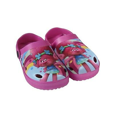 DreamWorks Trolls Poppy Clogs Hausschuhe Sandalen Schuhe Größe 26-33