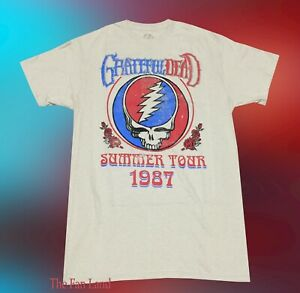 65141b4e26aa New Grateful Dead 1987 Summer Tour Mens Tan Vintage Concert T-shirt ...