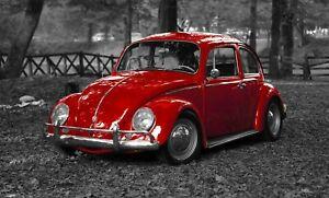 Volky Beetle Volkswagen Classic Car HD POSTER