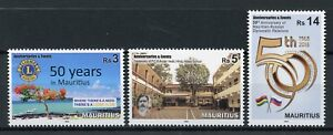 Mauritius-2018-MNH-Lions-Club-Diplomatic-Rel-Russia-3v-Set-Trees-Schools-Stamps