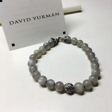 "David Yurman Spiritual Bead Men Bracelet Wave Spirit Moonstone 8mm 8"" Authentic"