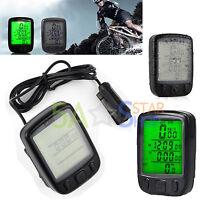 Digital Backlit LCD Bike Computer Odometer Bicycle Cycle Speedometer Speedo ODO