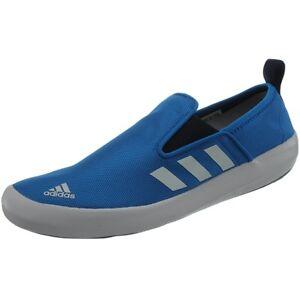 Adidas-Boat-Slip-On-DLX-Wassersportschuhe-unisex-blau-weis-Segelschuhe-NEU