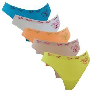 3er-Pack-Damen-Strings-Slips-Typ-Hase-in-6-Farben-Freesize-Nr-30112