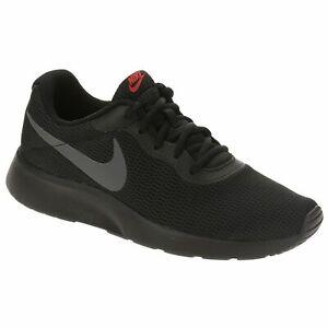 Dettagli su Scarpe Da Uomo Nike Tanjun 812654 015 Nero Grigio Sneakers Sportiva Tela Tg 40
