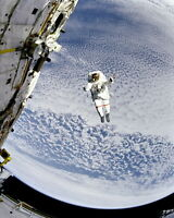 8x10 Nasa Photo: Astronaut Tests System For Spacewalk Rescue