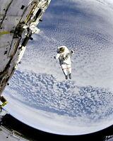 8x10 Nasa Photo: Astronaut Tests System For Spacewalk Rescue