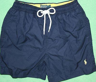 Polo Ralph Lauren Swimsuit Boys Swim Bathing Suit Shorts Blue Yellow Logo Trunks