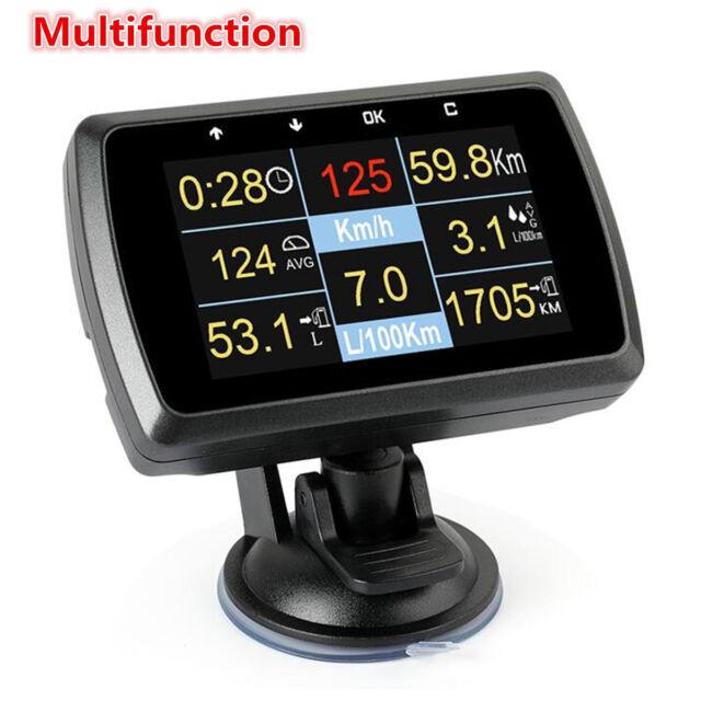 Auto Car OBD Obd2 Driving Computer Speed Meter Digital Display Gauge With  Holder
