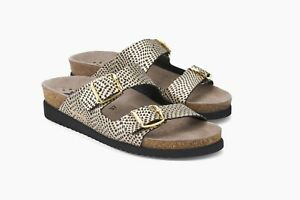 Ladies Mephisto Blackgold Soft Leather Sandals Buckle Womens zSqLMVGUp