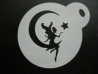 cookie 60mm fairy young design cake craft /& face painting stencil