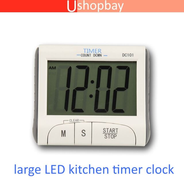 Digital Timer Kitchen Cooking Count Down Magnetic LCD Alarm Mater Chef Clock
