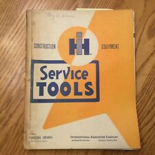 Ih International Service Shop Tools Manual Handbook Guide Maintenance Equipment