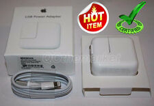 OEM 12W USB Wall Charger & 8 Pin Cable for Apple iPad Mini Air iPhone 5 / 6 / 7s