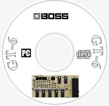 Boss GT-6 Sounds Patch Library, Manual MIDI Software & Editors CD -- GT 6 GT6