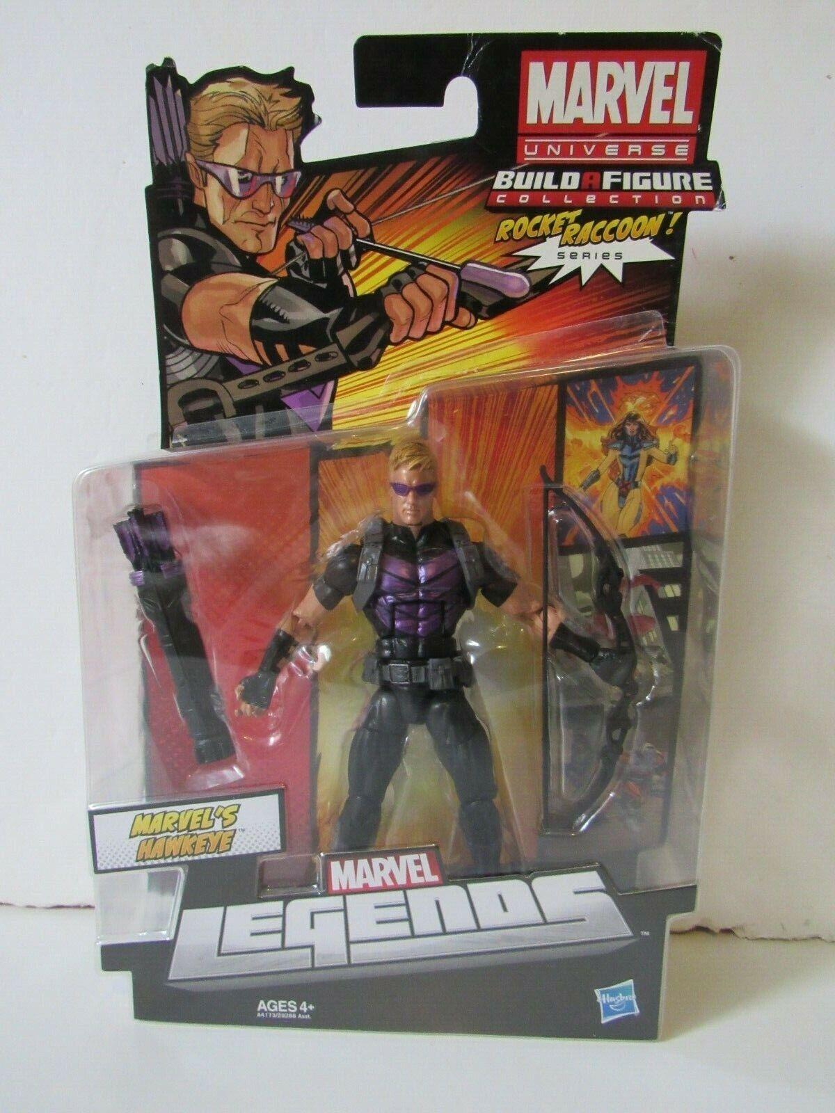 Marvel Leyendas Rocket Raccoon BAF serie 2 Hawkeye 6  pulgadas figura de acción 2013