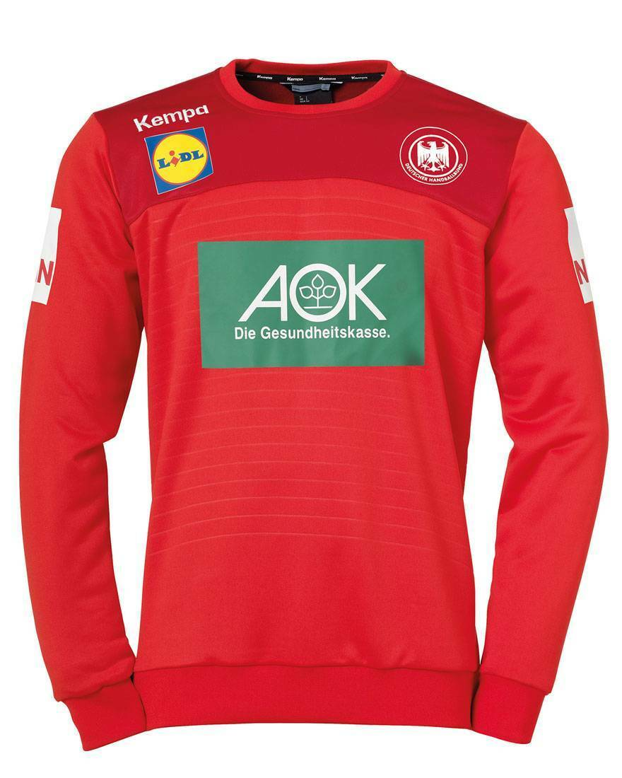 Kempa Kempa DHB DHB DHB Deutschland Torwart Top Torwarttrikot WM 2019 rot Kinder NEU 0a4bf0