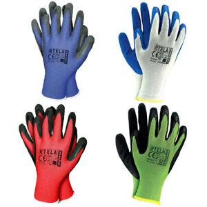 24 Paar Arbeitshandschuhe Gartenhandschuhe Handschuhe Montagehandschuhe Gr 9 ROT