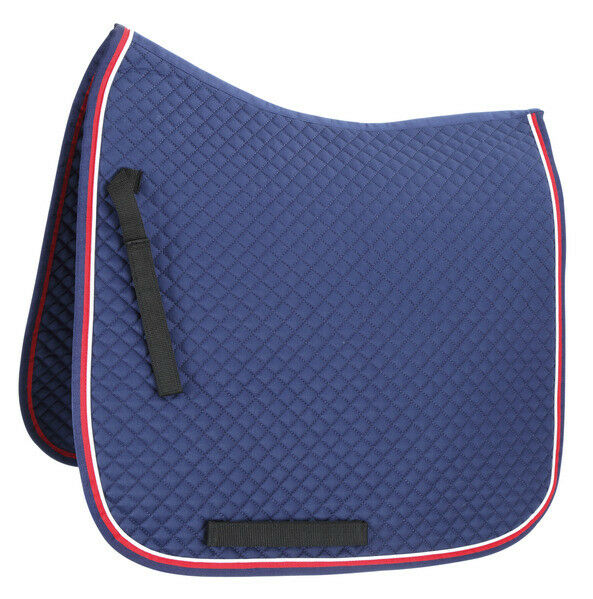 Shires Deluxe Dressage Saddle  Pad with Diamond Quilting and Double color Binding  discount sales