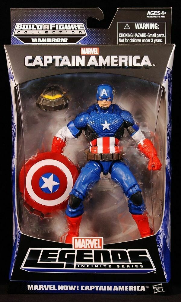 CAPTAIN AMERICA NOW ( 6  ) VHTF MARVEL LEGENDS MANDROID SERIES ACTION FIGURE  1