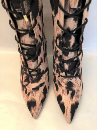 Over Sold 39 Smith Laquan Asos Leopard Out Lacets Bottines Bottes All Rv7wpv