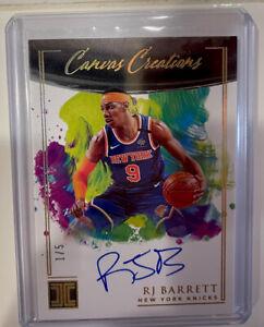 2020-21 Panini Impeccable Basketball RJ Barrett 1/5 AUTO Canvas Creations GOLD
