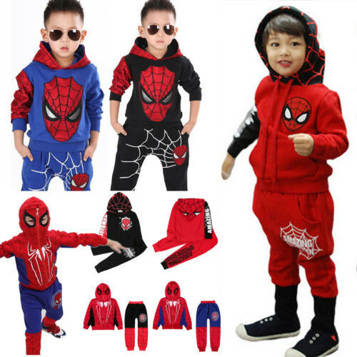 Superhero Kids Toddler Boys Tracksuit Hoodies Sweatshirt T-Shirt Coat Trousers