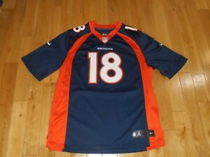 timeless design 1e915 602ff Details about Nike On Field PEYTON MANNING DENVER BRONCOS Mens NFL Team  Sewn Replica JERSEY XL