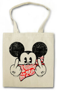 FU MOUSE STOFFTASCHE Comic Gangster F*** You Mickey TV Fun Mobster