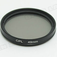 49mm CPL Circular Polarizing FILTER For for Sony NEX-7 NEX-C3 NEX-5N NEX-5