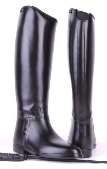 HKM Herren Elasticated Insert Waterproof Spur Support Long Wide Horse Riding Stiefel