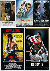 Sylvester-Stallone-Movie-Poster-Collection-Laminated-A4-Buy-2-Get-3-FREE