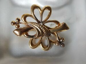 BROCHE-ANCIENNE-plaque-or