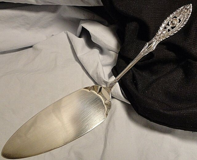 Cake Pastry Pie Server Valenciennes Manchester Sterling Silver Rose Wedding