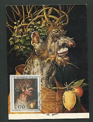 Angemessen Italien Mk 1977 Arcimboldo Maler Kunst Art Maximumkarte Maximum Card Mc Cm D5559